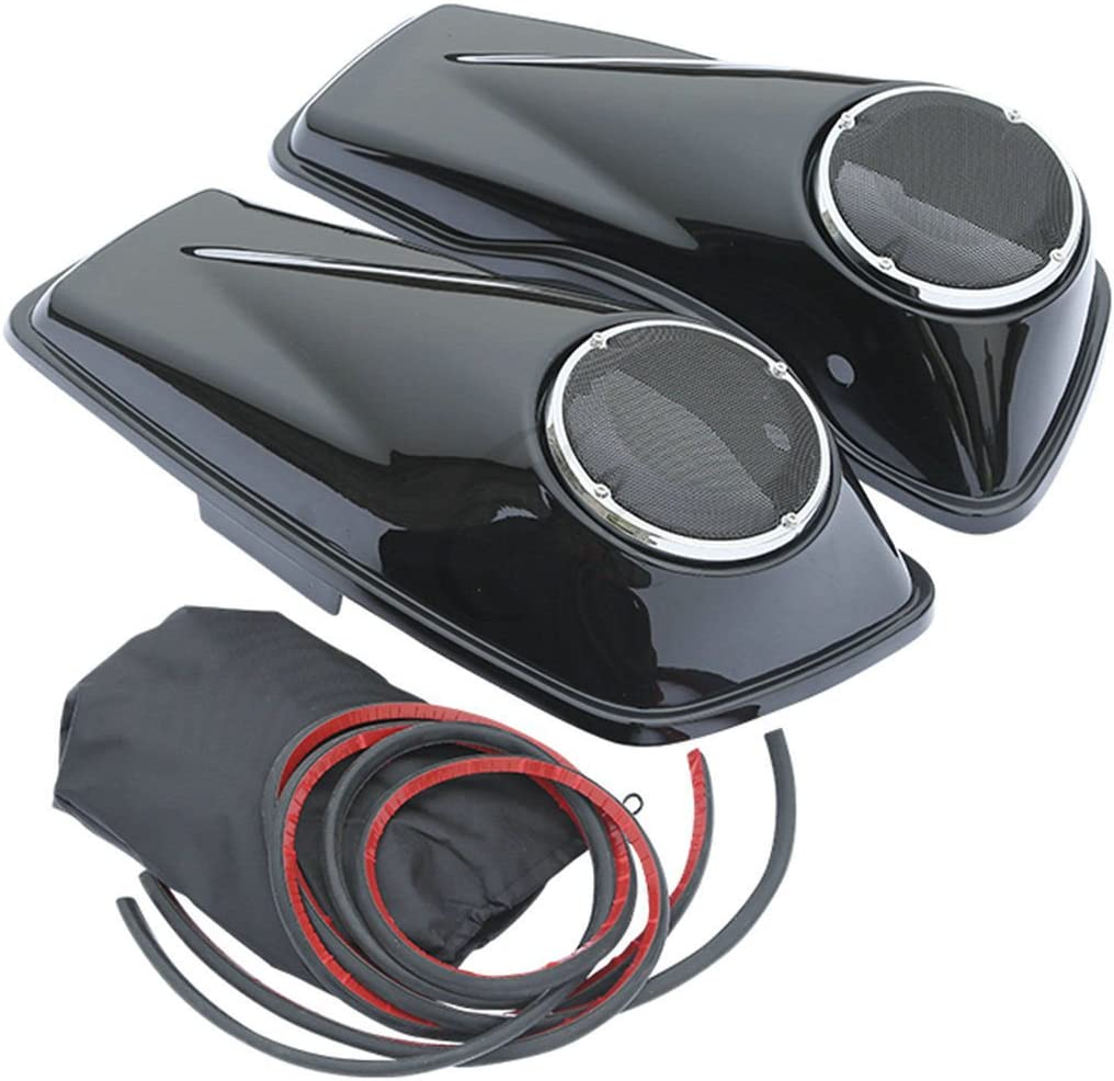 XFMT 6 1//2 Speaker Saddlebag Lid Compatible with Harley Davidson Touring FLHR FLHT 2014-2019
