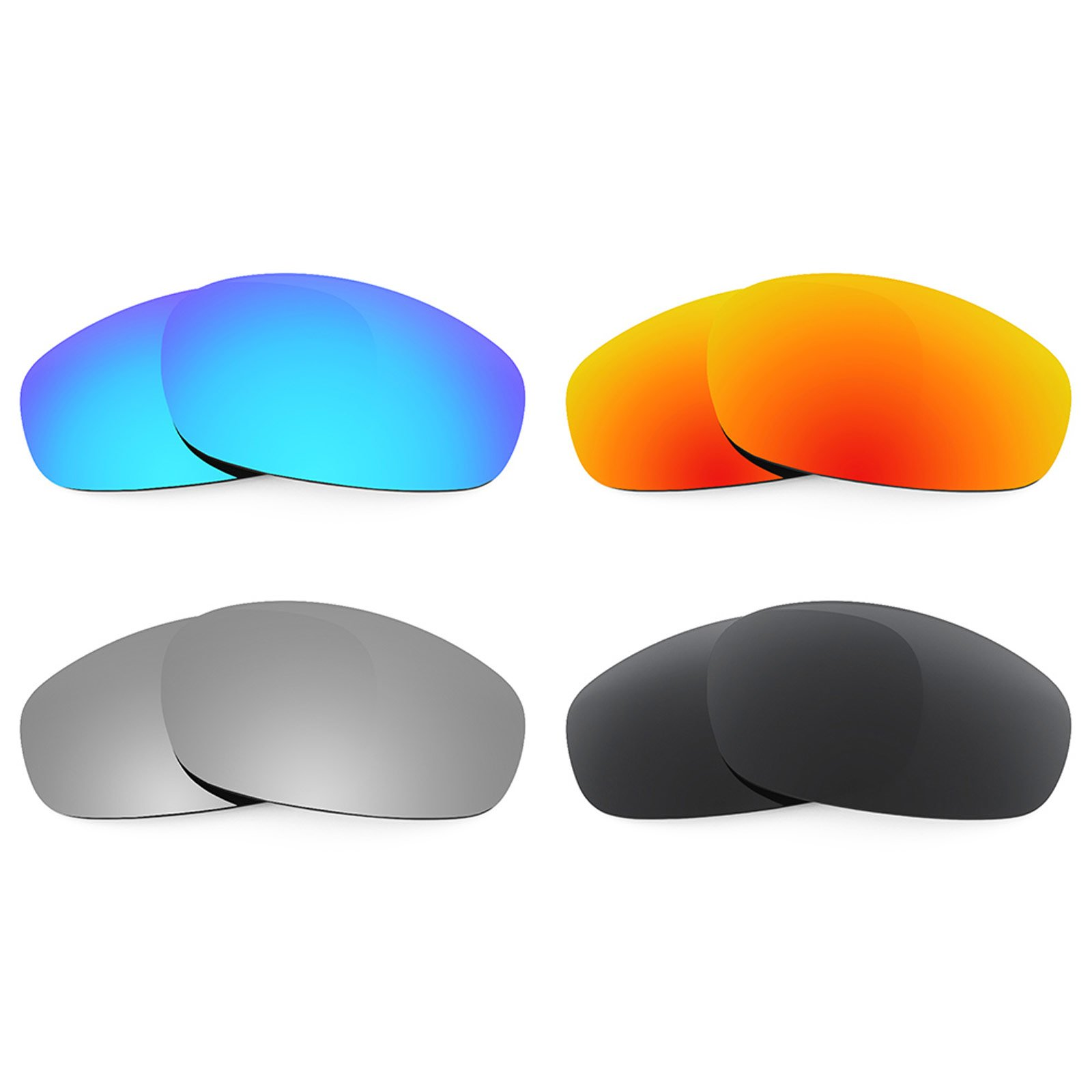 Revant Replacement Lenses for Oakley Split Jacket 4 Pair Combo Pack K018 by Revant