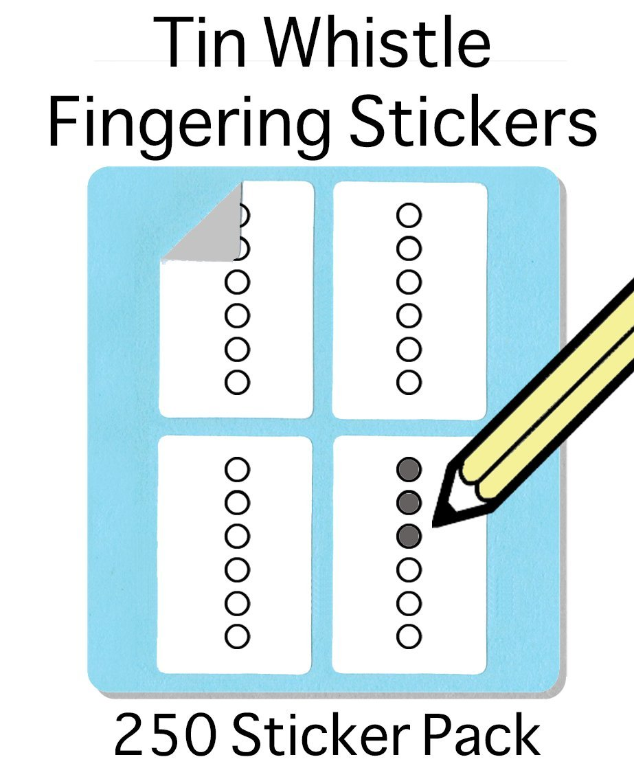 Tin Whistle, Basuri & Native American Flute Fingering Sticker Set (250 Per Pa... whirlwindpress.ca