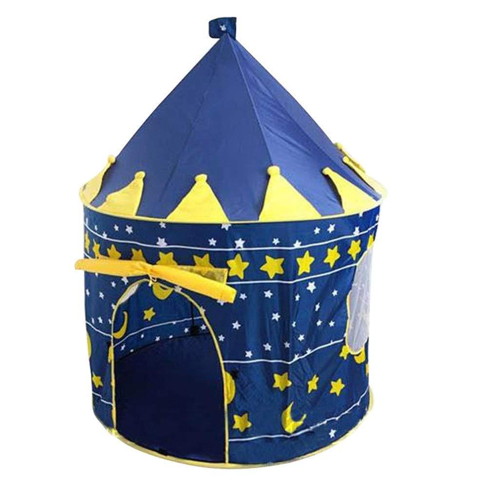FANG1106 Baukasten Bauen Sie auf und Spielen Sie lustiges S Kinderspiel Magic Castle Drinnen oder draußen und Spielzelt, blau oder Rosa Baue und Spiele lustige Spielzeuge für Kinder (Farbe   Rosa) Blau