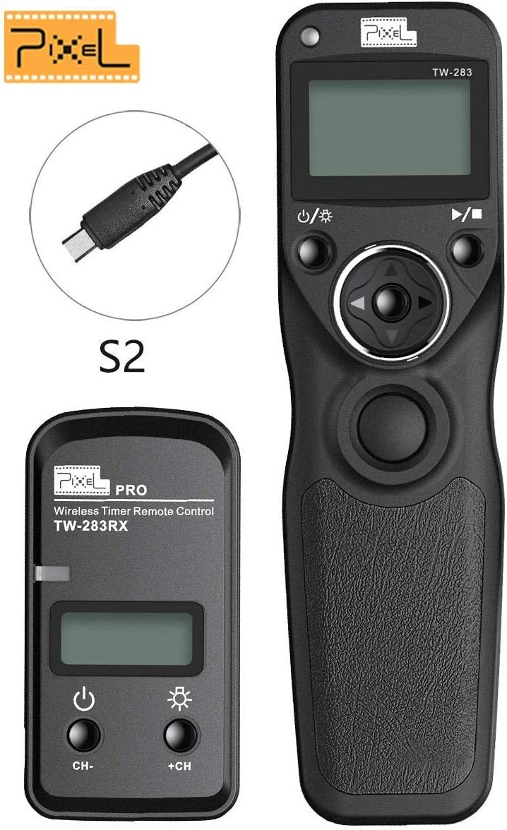 FocusFoto LCD Timer Remote Control Shutter Release Cable Cord S2 for Sony A58 NEX-3NL A7 A7M2 A7R2 A7II A7III A7RIII A7SIII A3000 A5000 A6000 A6300 A6500 HX60 HX300 HX400 HX50V RX100II RX100III Camera