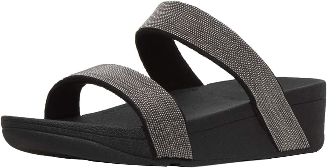 238b5193dd4 Amazon.com   FitFlop Women's Lottie Shimmer Mesh Slide Black/Black 5 ...