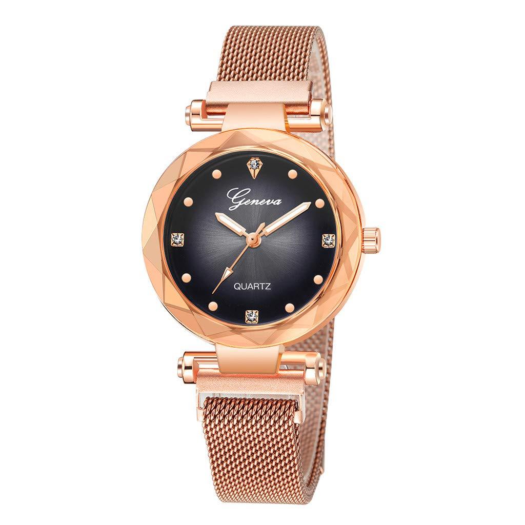 Amazon.com: Reloj de pulsera de cuarzo con incrustaciones de ...