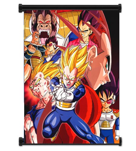 1 X Dragon Ball Z Vegeta Anime Fabric Wall Scroll Poster  In