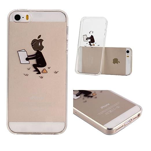 5 opinioni per iPhone 6 / iPhone 6S Cover , YIGA Divertente Disegno Animato Trasparente