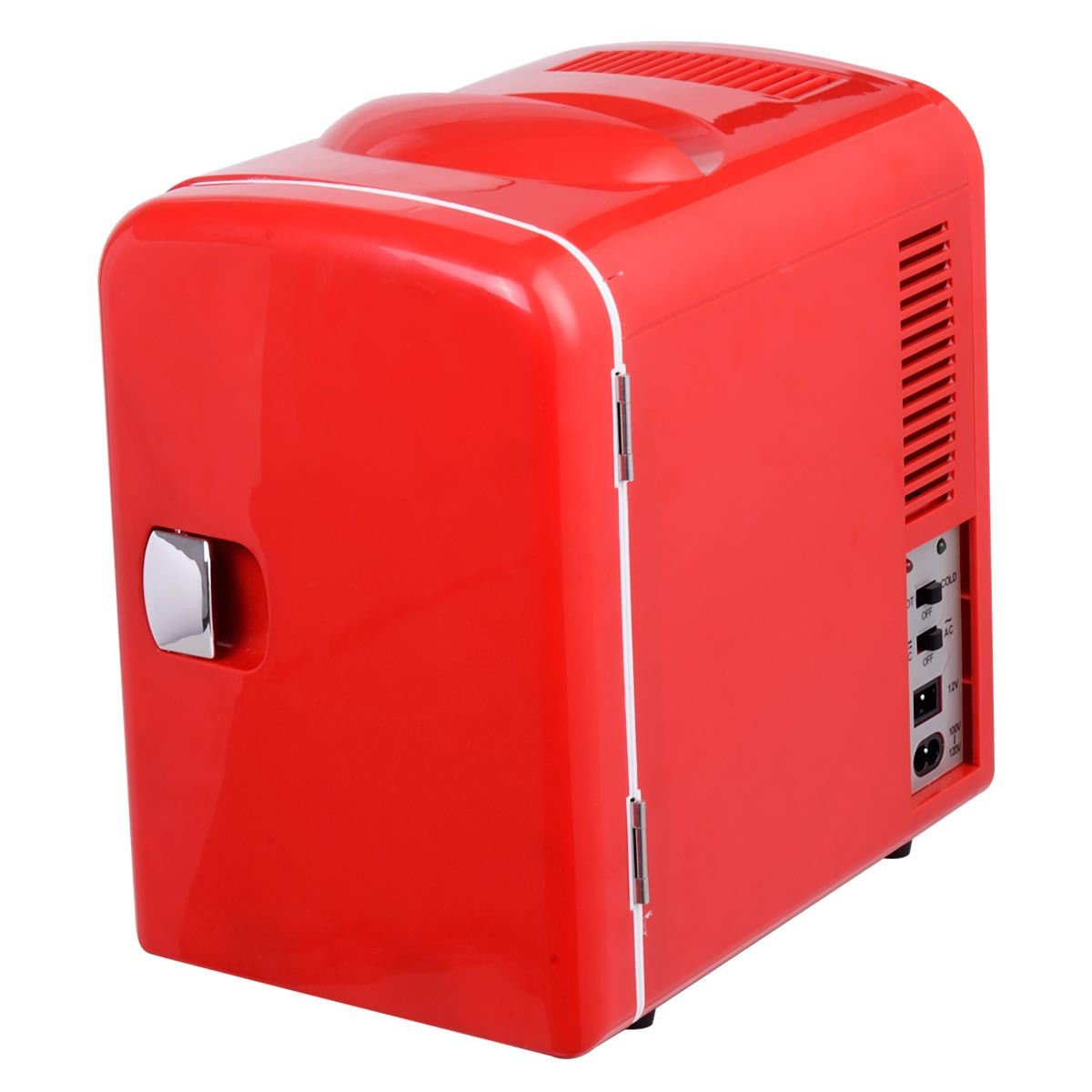 Amazon.com: Portable Mini Fridge Cooler And Warmer Auto Car Boat Home  Office AC U0026 DC Red: Kitchen U0026 Dining