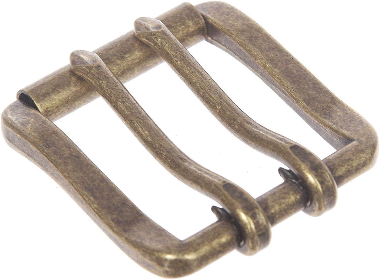 MONIQUE Men Double Prong Roller Solid Brass 1.5 Belt Replacement Buckle