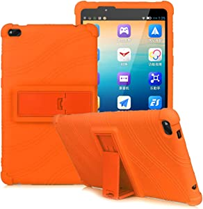 HminSen Colorful Kids Case for Lenovo Tab E8, Light Weight [Anti Slip] Shockproof Protective Cover for Lenovo TAB E8 TB-8304F TB-8304F1 Tablet Silicone Case (Orange)