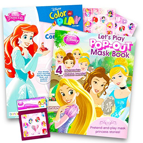 Disney Princess Coloring and Activity Book Super Set -- 2 Bo