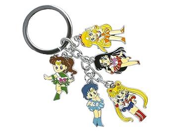 CoolChange Llavero de Sailor Moon con 5 Figuras Chibi ...