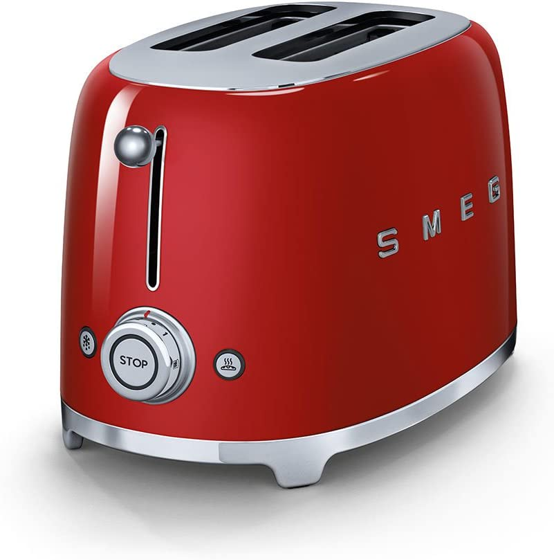 Smeg 2 Slice Toaster - Red