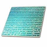 3dRose ct_272858_2 Sparkling Teal Luxury Elegant Mermaid Sea Ocean Waves Ceramic Tiles,