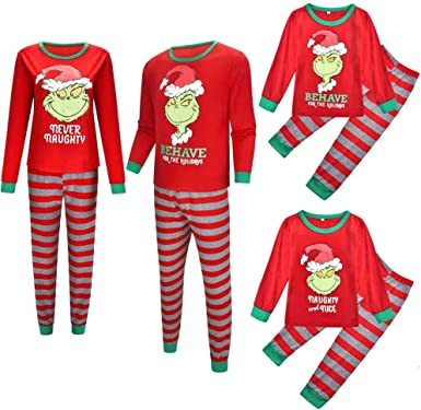 Juego de pijamas para parejas familiares, ropa de Navidad ...