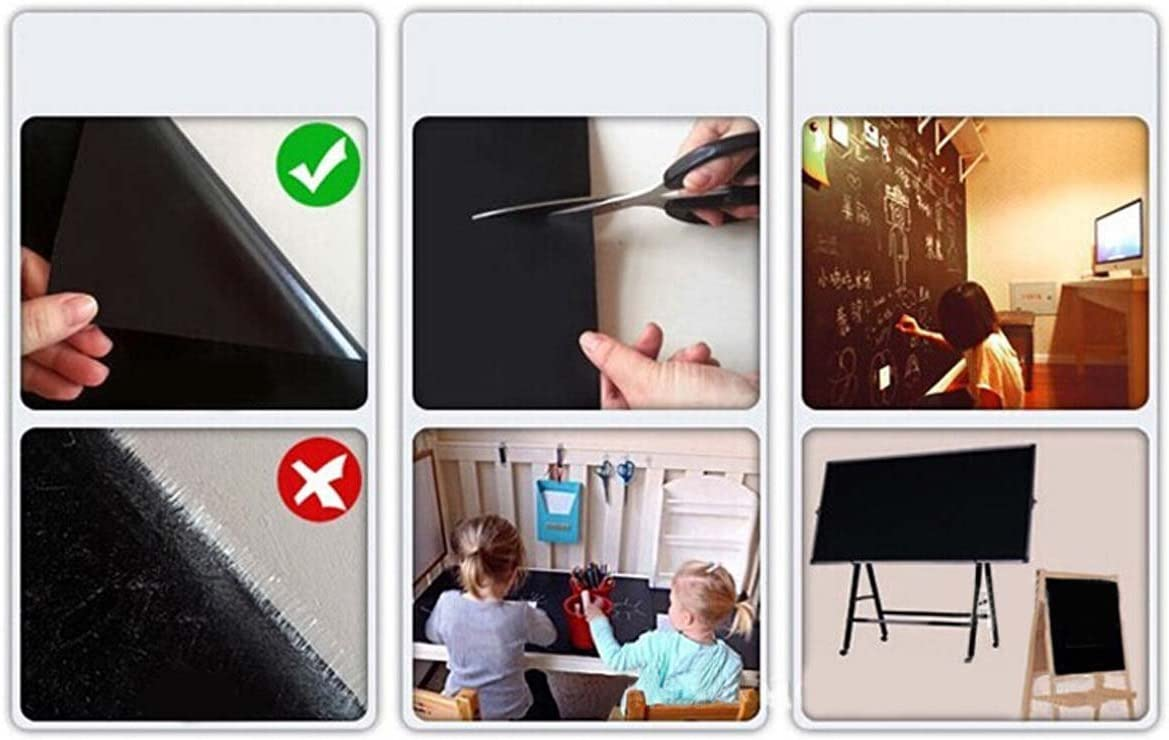 MFEIR/® Tafel-Aufkleber Selbstklebende Tafelfolie Kreidetafel in der Gr/ö/ße 60x200 cm in Schwarz