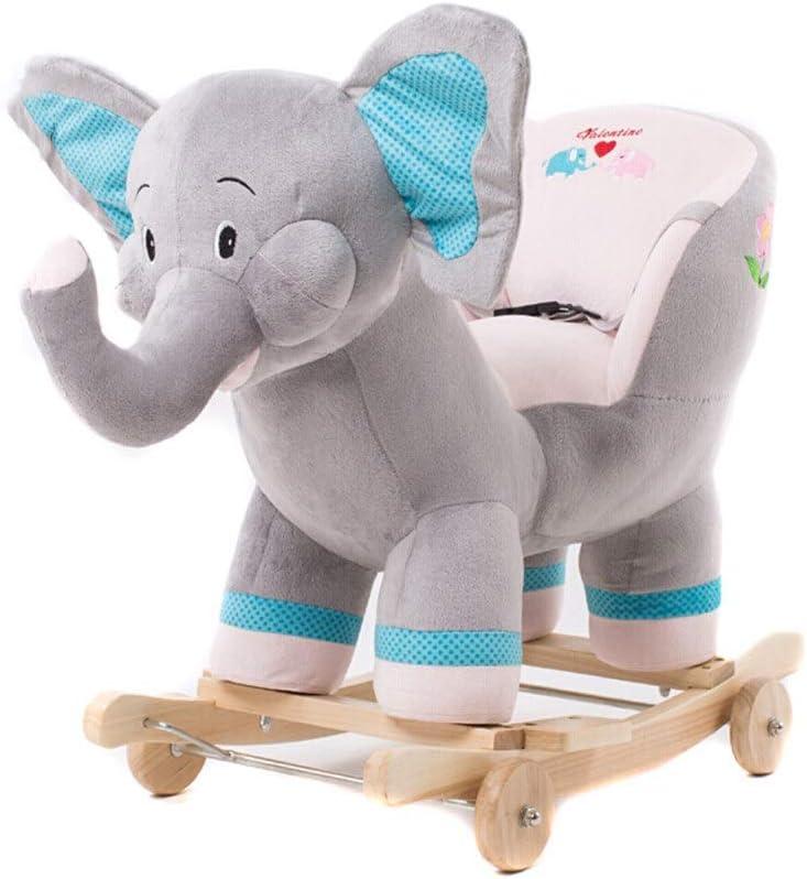 De los niños del caballo de oscilación Caballo de juguete de felpa interactivo Permanente Ride-On del bebé del caballo mecedora niños con sonido vehículo infantil caballo Silla de oscilación del niño