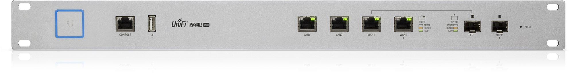 Unifi Security Gateway Pro 4-Port 5 Rack mount design Convenient VLAN support Form Factor: Rack-mountable
