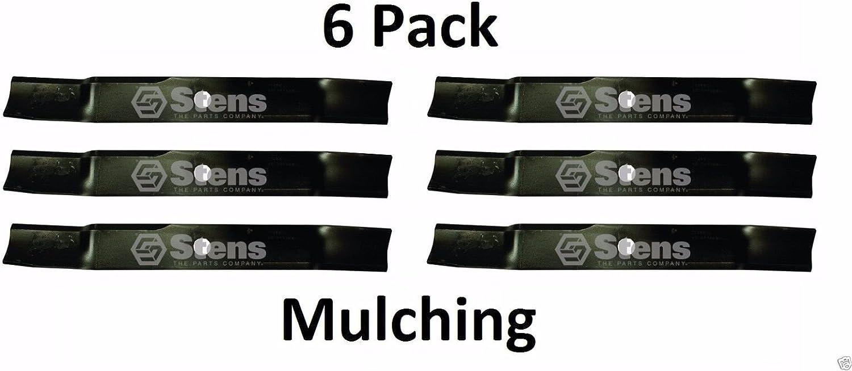 "3 HD Mulching Blades 60/"" Deck John Deere M131958 Z-TRAK M128485 M168223 M144196"