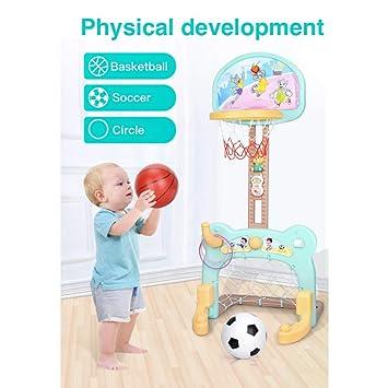 Balón de baloncesto y balón de fútbol 2 en 1 Set para niños, niñas ...