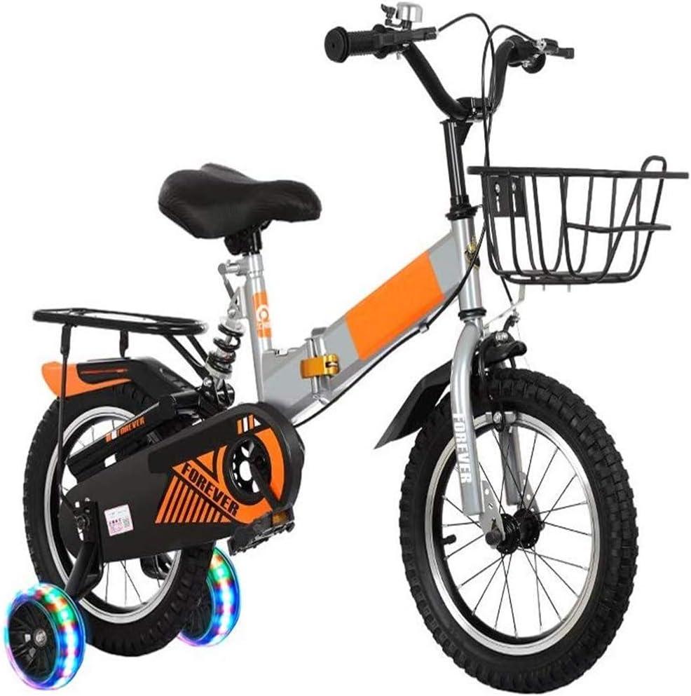 Bicicleta de los niños 2-3-4-6-7 Años de Edad Cochecito de niños Bicicleta Plegable Bicicleta de niño Bastidor de suspensión del Asistente de Flash Rueda 12/14/16 Selección Pulgadas