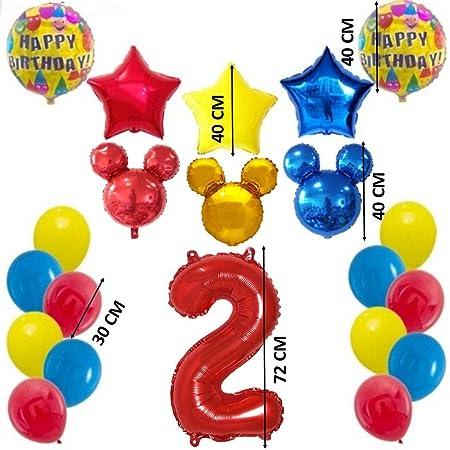Shopama globos decoraciones de cumpleaños 2 años ratón bebé ...
