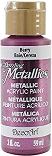 product image for DecoArt Dazzling Metallics Paint, 2-Ounce, Berry
