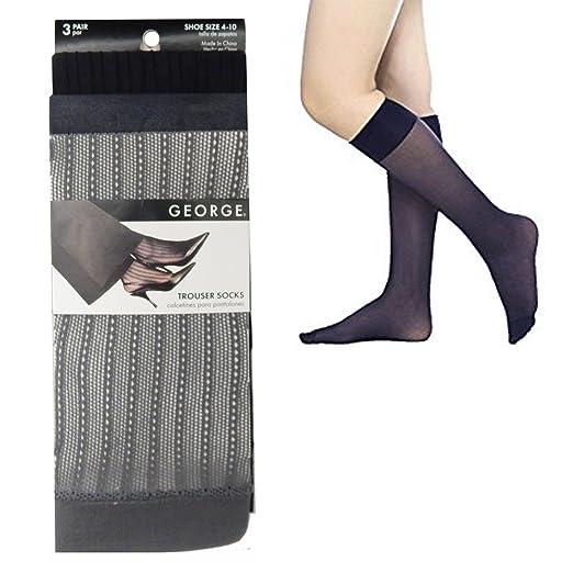 Sheer Trouser Socks-Shoe Size 4-10/3 AT Color