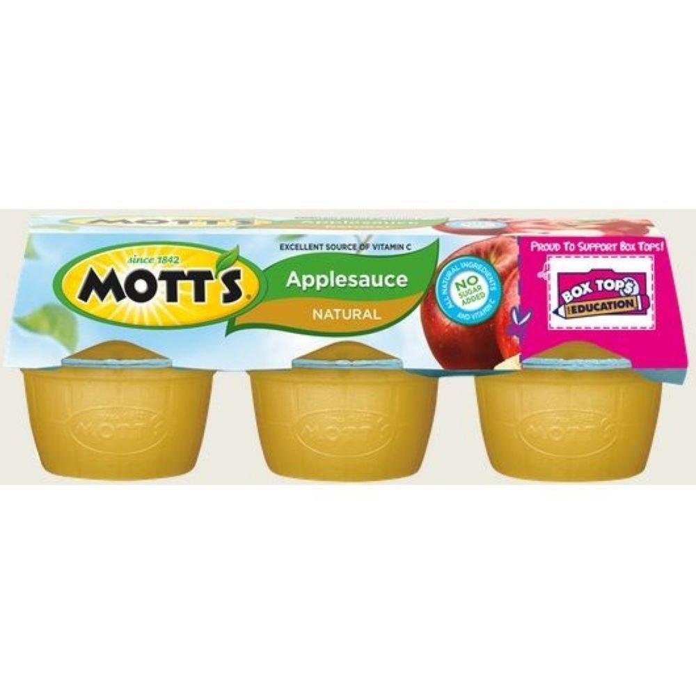 Mott's Natural No Sugar Added Applesauce (148073) 6 - 4 oz cups (Pack of 12)