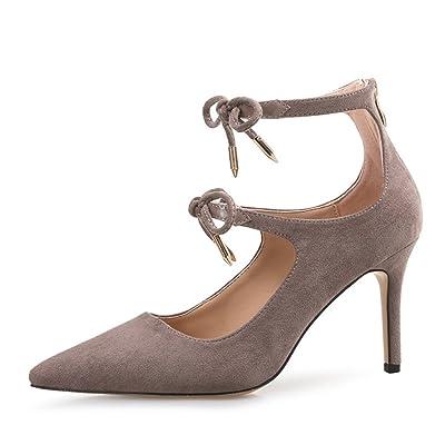 Sandales D'été Femmes Straps Sexy Stiletto Hauts Talons Travail Pompes De Mariage Dames Beaux Bout Pointu Chaussures