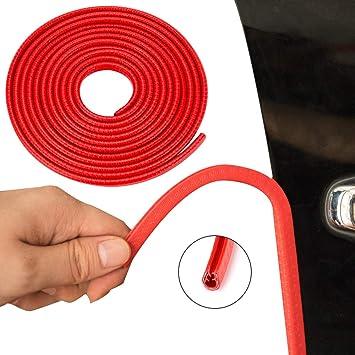 BORDE de la puerta de coche Negro Rojo anti-arañazos anti-colisión Protector Protector Tira de Ajuste