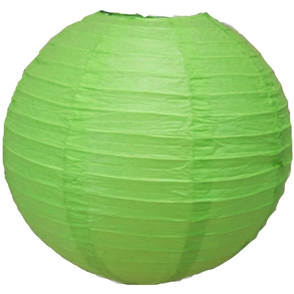 球体ペーパーランタン うね織り模様 ぶらさげるのに(電球は別売り) 8 Inch 8EVP-GG 1 B00T5E3ERS 8 Inch|グラスグリーン グラスグリーン 8 Inch