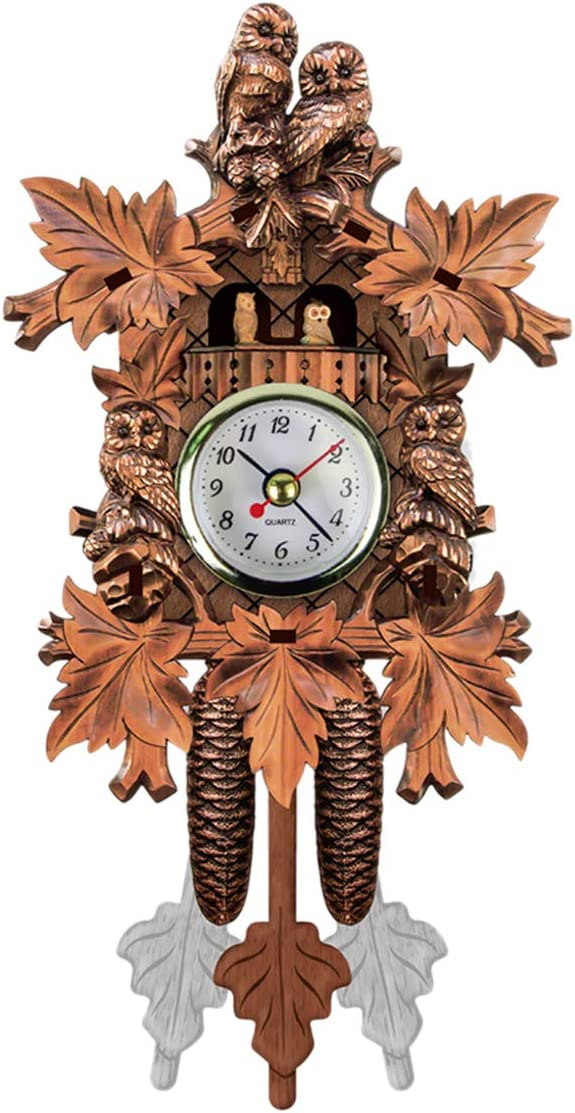 Yinuoday Cuckoo Clock, Big Wall Clock Battery-Operated Vintage Coo Coo Clock for Home Kitchen Bathroom DÃcor