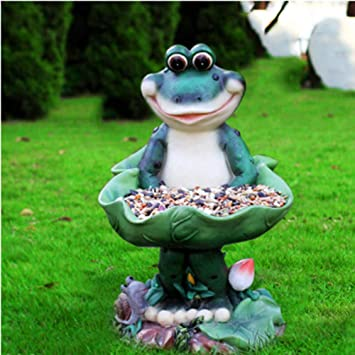 Figura Decorativa para jardín Simulación Animal Bird Food Dish Figurilla Impermeable FRP Jardín Estatua Para Patio Decoración De Césped Regalo - (A B C D E F G) C:17 * 16 * 27cm: Amazon.es: Bricolaje y herramientas
