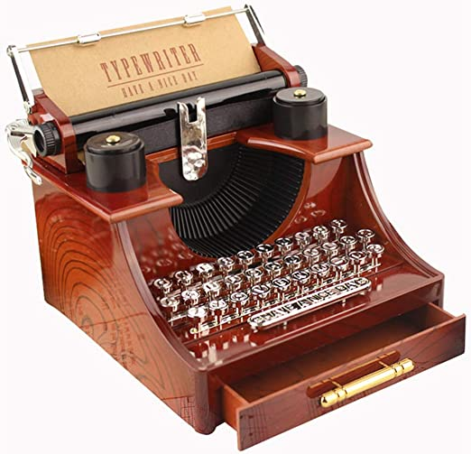 fang zhou Caja de música Modelo máquina Escribir Vintage, Impresora Retro, Caja Musical joyería, plástico Natural Movimiento Metal, Cualquier colector: Amazon.es: Hogar