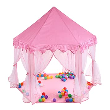 buy popular f3229 40e7d Amazon.com : Marketworldcup-Kids Pink Tent Princess House ...