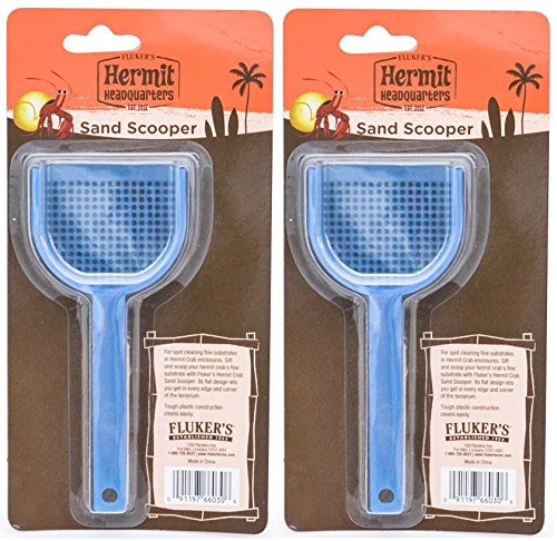 (2 Pack) Flukers Hermit Crab Sand Scooper