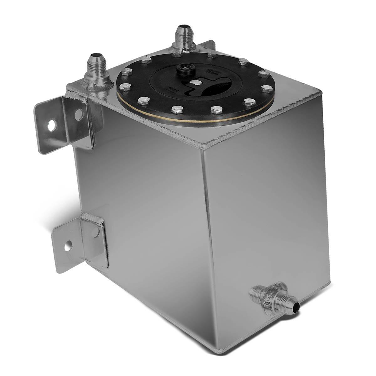 DNAMotoring ALU-FT-B-BF-1G Aluminum Bottom-Feed Fuel Cell Gas Tank, 1 gal DNA Motoring