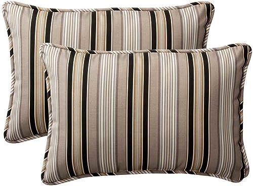 Pillow Perfect Decorative Brown/Blue Tropical Toss Pillow