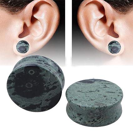 Peng sounded Dilatador 1 par Personalidad Pendiente de Piedra Natural oído jauges Tapones de sillín oído