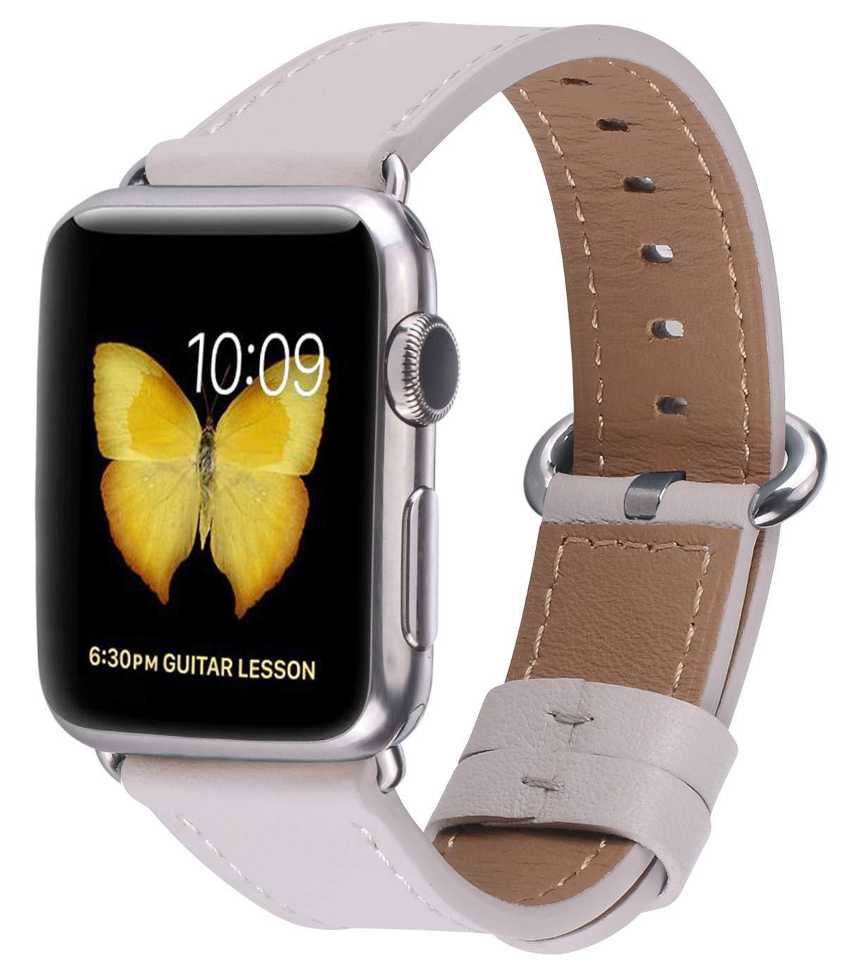jsgjmy Apple Watchバンド38 mm 42 mmレディースメンズGenuineレザーループのiWatch Series 3 /シリーズ2 /シリーズ1 /Edition/スポーツ ストーン 38mm 40mm S/M