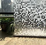 Fofon Window Film No Glue Frosted Privacy Static Self-Adhesive Cling Stained ...