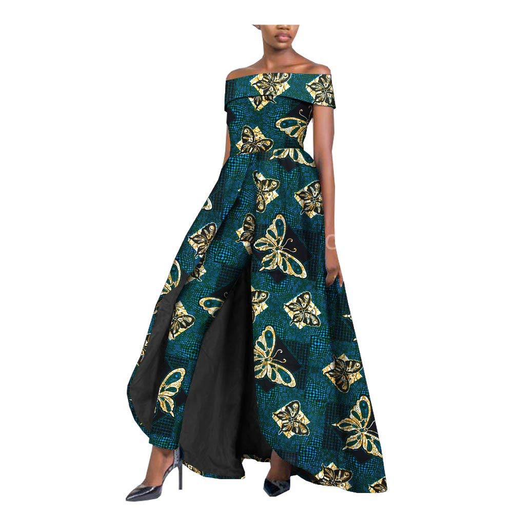 452 private afripride African Dresses for Women Long Splits Dress+Long Ankara Pants TwoPiece Suits for Lady Dashiki Plus Size