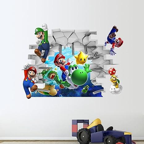 Mural ZOZOSO Super Mario Bedroom Wall Sticker Removable ...