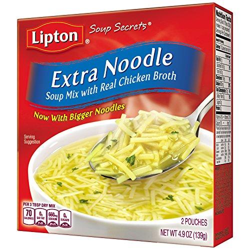 Lipton Soup Secrets Noodle Soup Mix, Extra Noodle Soup 4.9 oz ( Pack Of 12 ) (Soup Chicken Noodle Flavor)