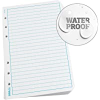 "Rite in the Rain Waterproof (DURARITE) Loose Leaf Paper, 4.625"" x 7"", White, Universal Pattern, 100 Sheet Pack (No. 672)"
