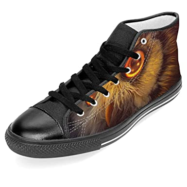 2a0418dc59d19 Amazon.com: Women's High Top Shoes,Owl Photo Reality Lace Up Printed ...