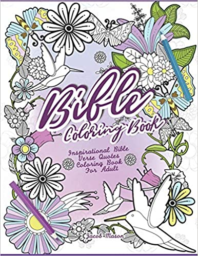 Bible Coloring Book: Inspirational Bible Verse Quotes ...