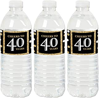 product image for Adult 40th Birthday - Gold - Birthday Party Water Bottle Sticker Labels - Set of 20