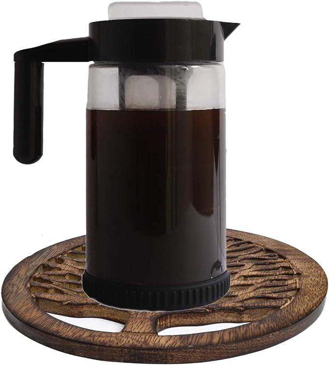 WILLART - Salvamanteles de madera para tetera, para ollas, sartenes, platos, cocina, decoración de mesa, accesorio (juego de 2 posavasos): Amazon.es: Hogar