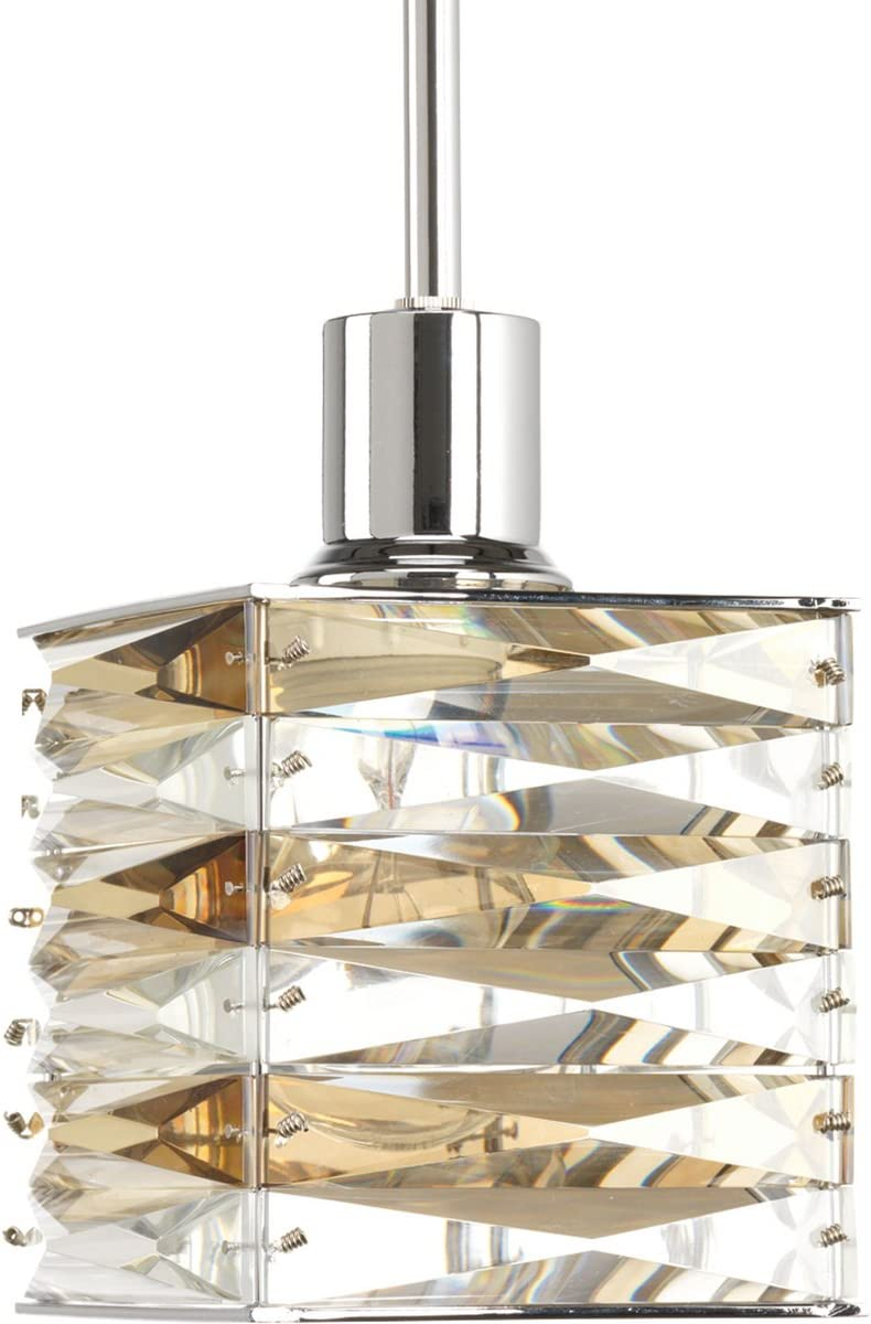 Progress Lighting P5043-15 Contemporary Modern One Light Mini Pendant from The Pointe Collection Finish, Polished Chrome