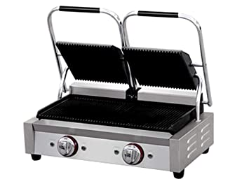 Profesional acero inoxidable contacto Grill, 2 x 2200 W ...